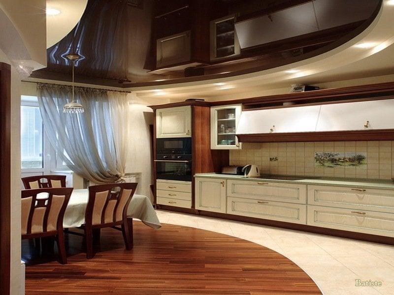 Разноуровневые подвесные потолки производятся из современных экологичных материалов
