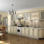 Кухни классика светлые с патиной на фото