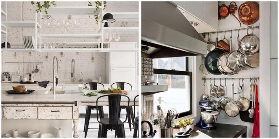 Сочетание белой кухни с белым островом в неоклассическом стиле
