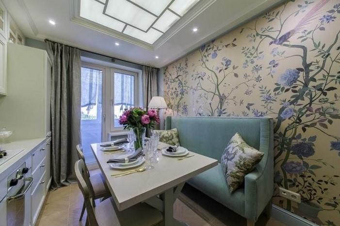 Дизайн штор на кухню с балконной дверью - варианты оформления окна