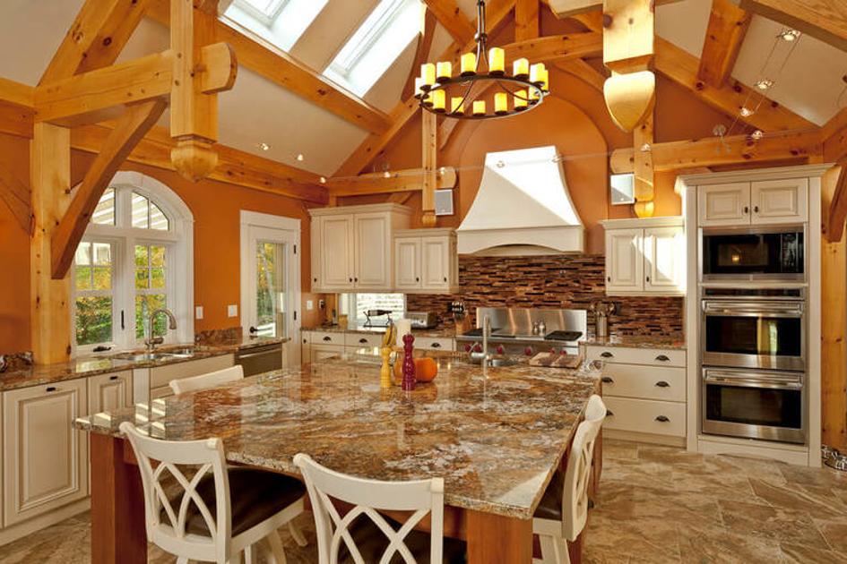 Дизайн кухни оранжевого цвета - апельсиновый стильный интерьер