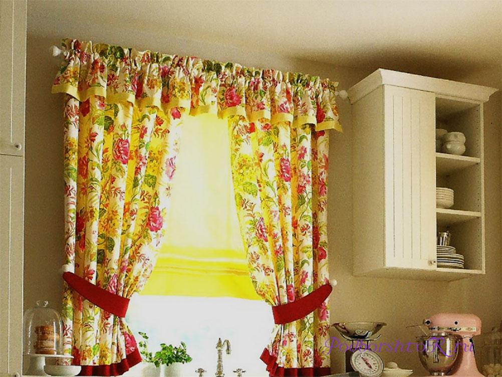 сшить кухонные шторы фото массивнее ворота