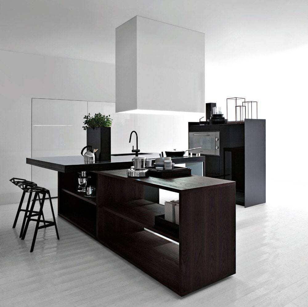 Дизайн черно белой кухни - модные тенденции этого года
