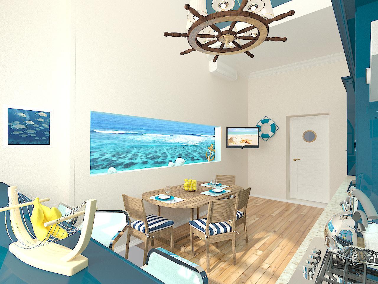 Дизайн кухни в синем цвете - сочетание элементов интерьера и выбор стиля