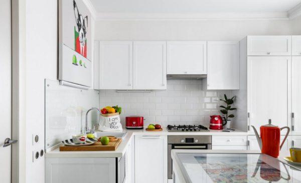 Современная светлая кухня - оформление дизайна и интерьера