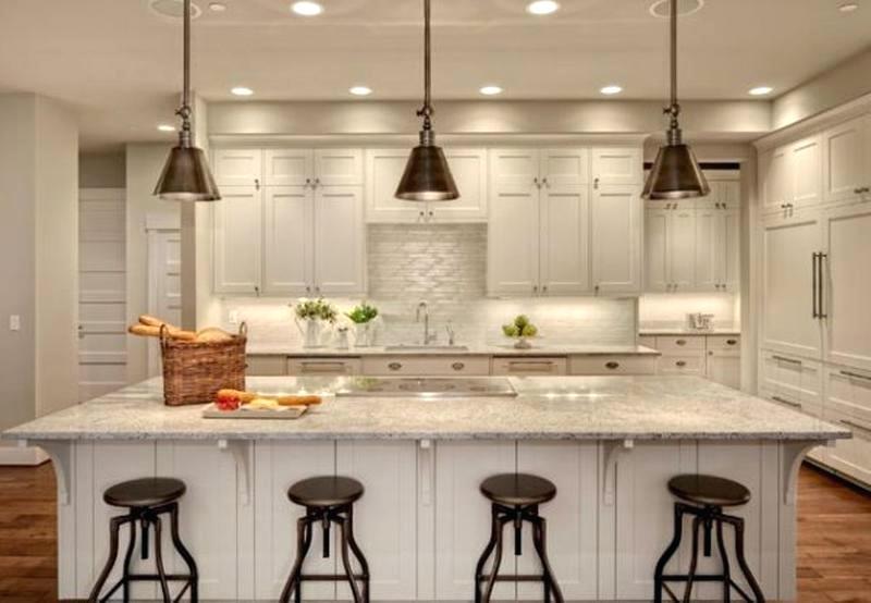 Свет в кухне: теплое освещение