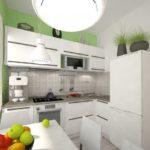 Кухня в 6 кв метров в современном стиле.