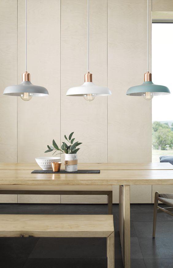 Светильники над обеденным столом