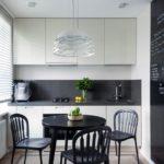 Маленькая кухня 6 кв м в стиле минимализм.