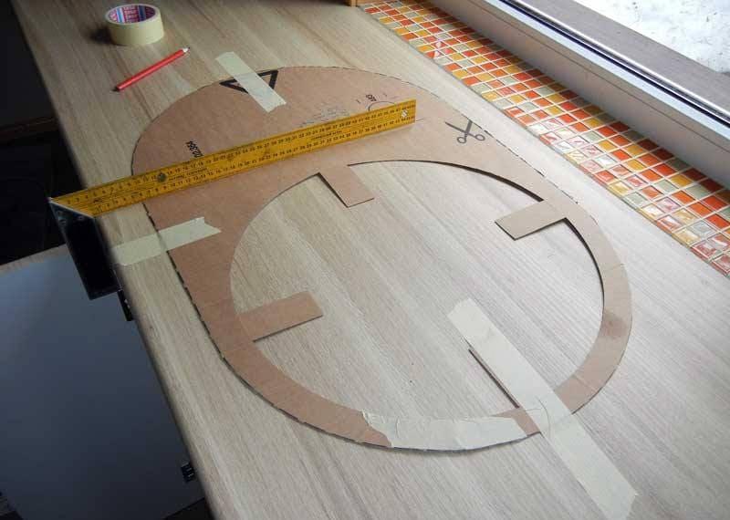 Шаблон размеров мойки от производителя