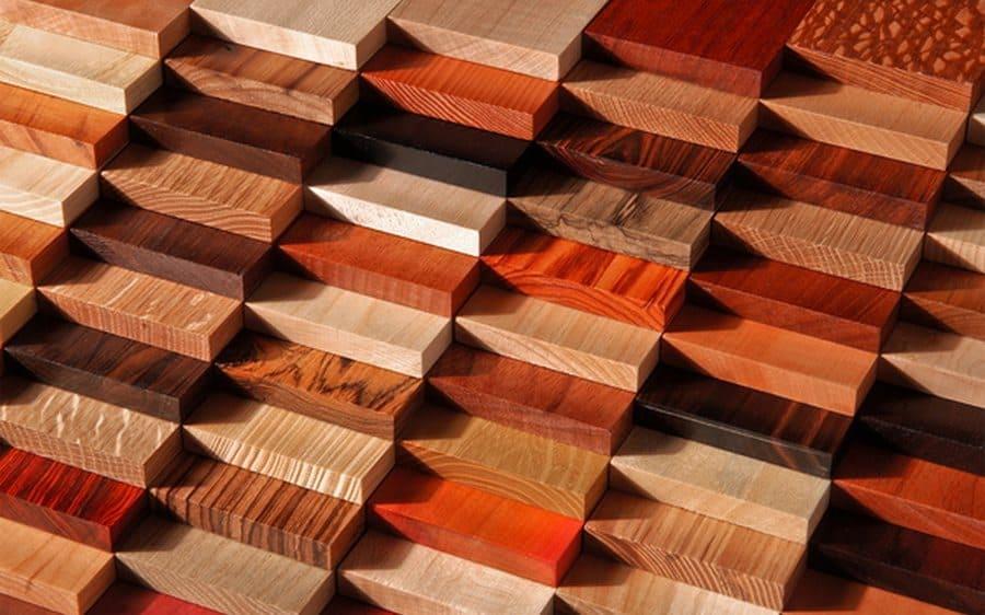 Цвета и фактура древесины различных сортов