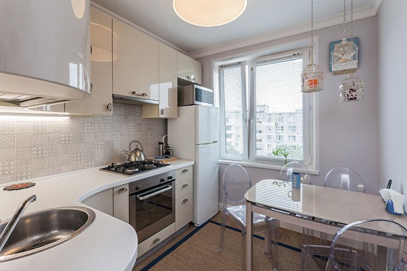 кухни с холодильником