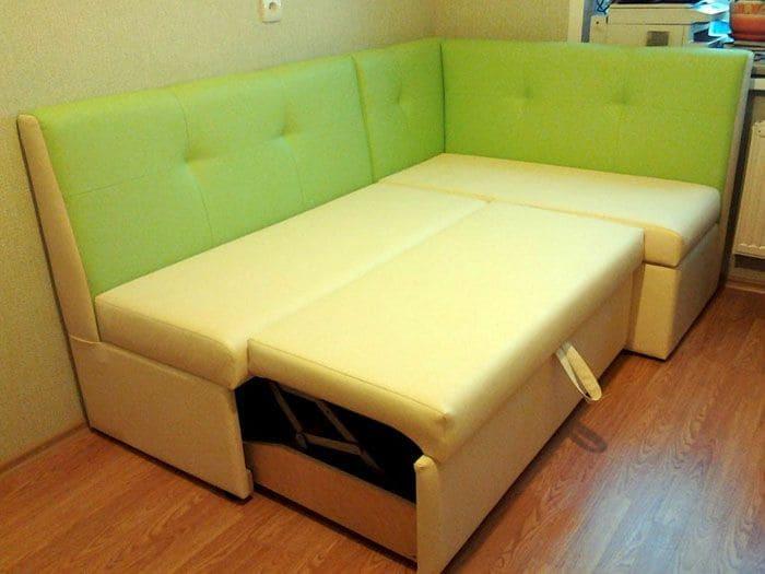 Дополнительное спальное место, за счет кухонного уголка