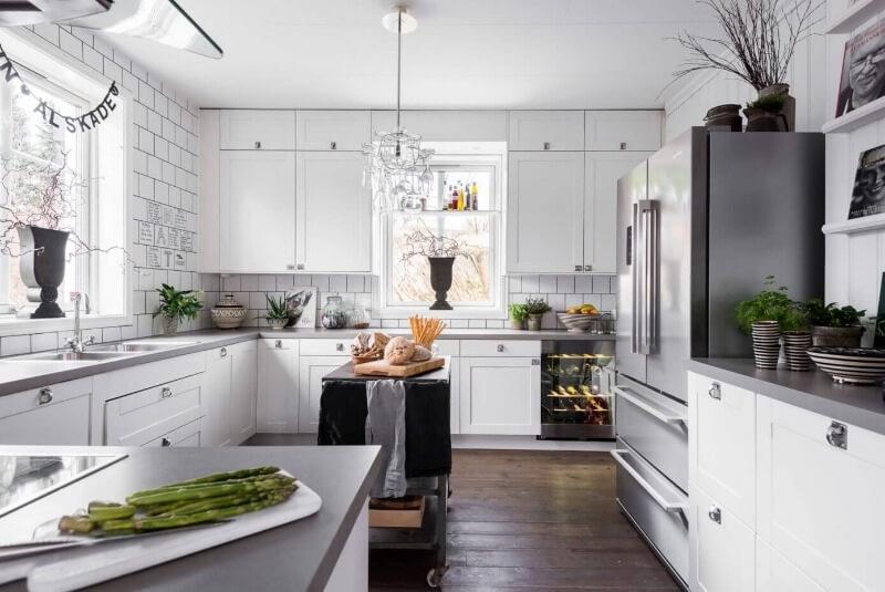 Дизайн кухни в скандинавском стиле - оформление интерьера у себя дома
