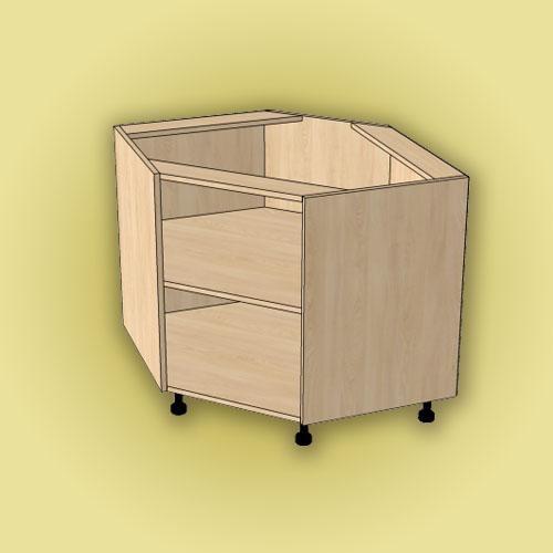 Кухонный угловой шкаф на кухню - его виды, размеры и чертежи