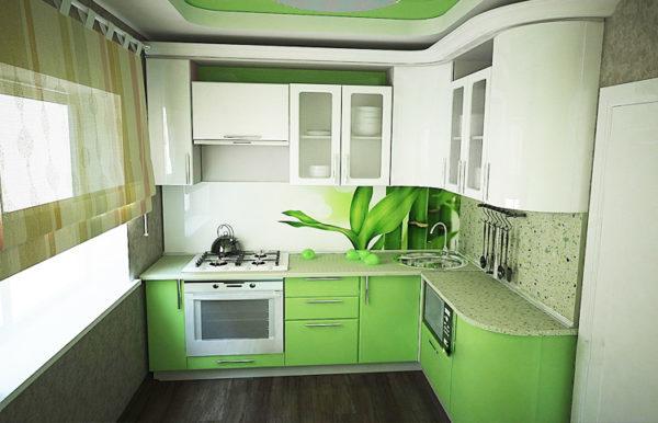 Дизайн кухни зеленого цвета - оформляем взрывной интерьер