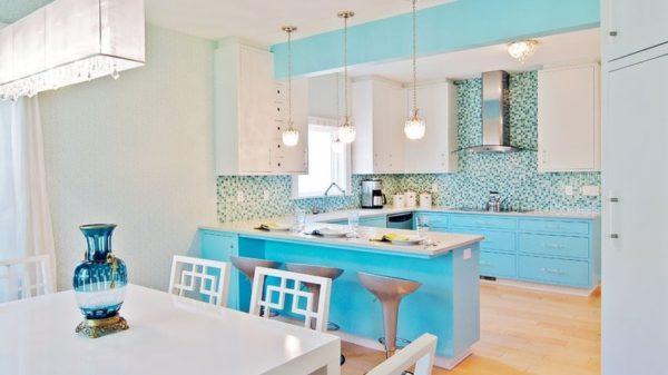 Кухня в голубых тонах - интерьер и дизайн до мелочей