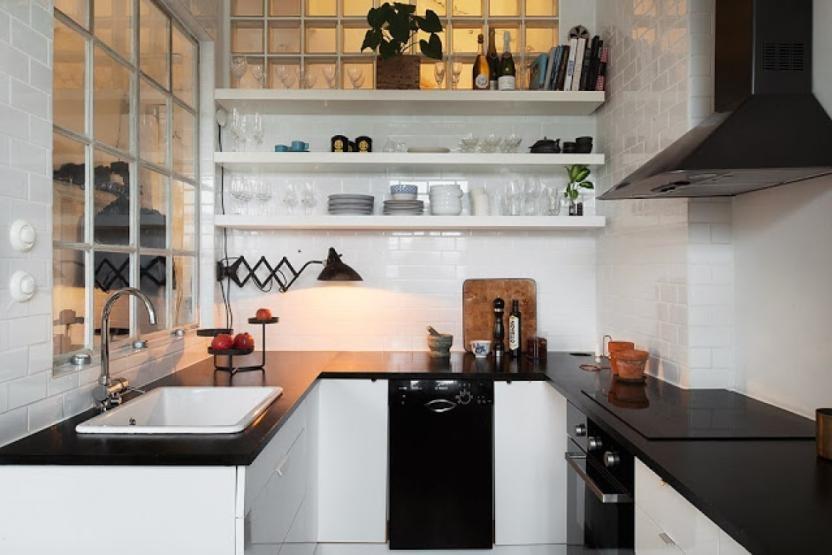 Идеи для кухни маленькой площади - планировка и современное оформление дизайна