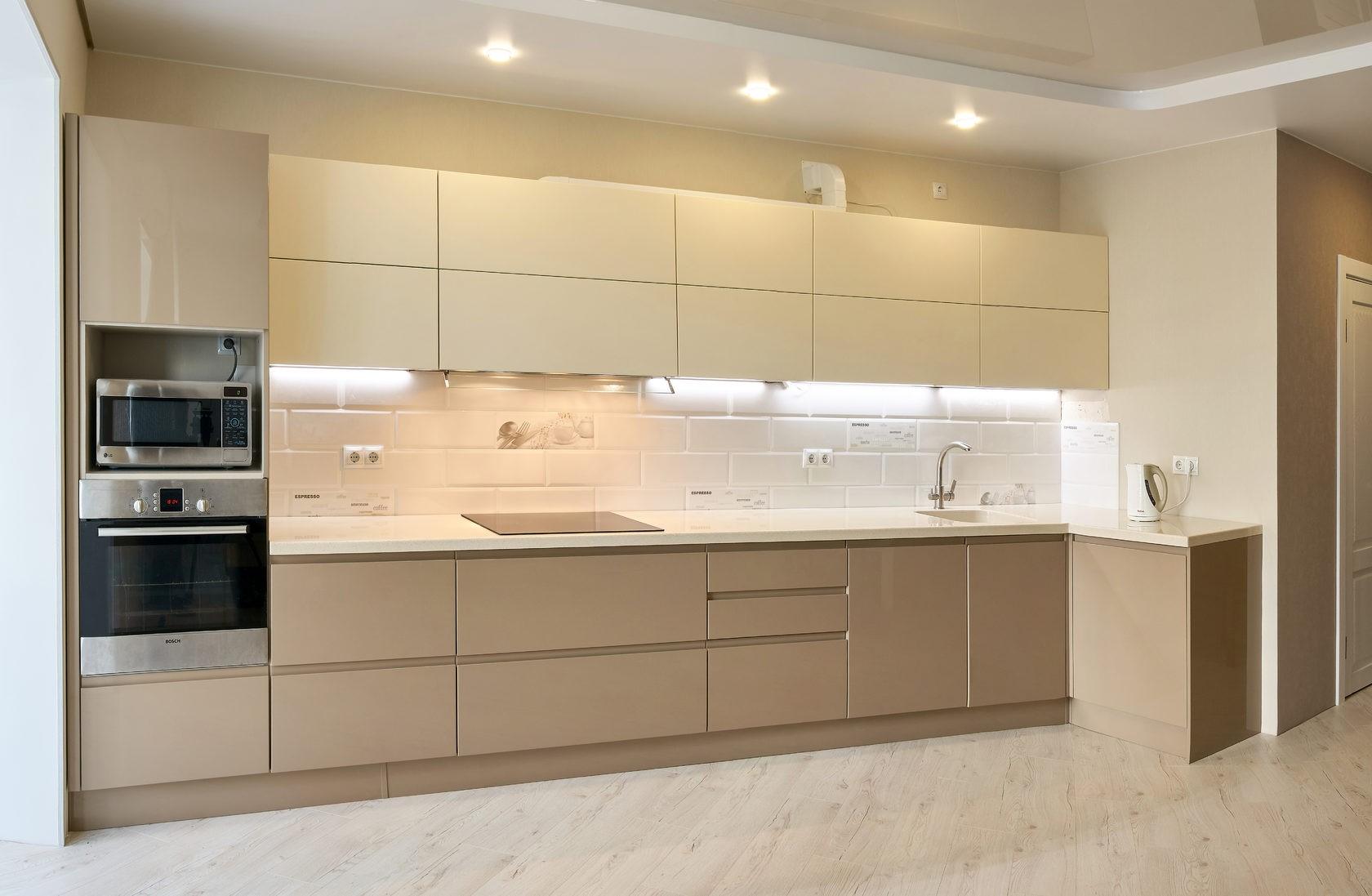 Дизайн бежевой кухни - с чем сочетать и как оформить интерьер
