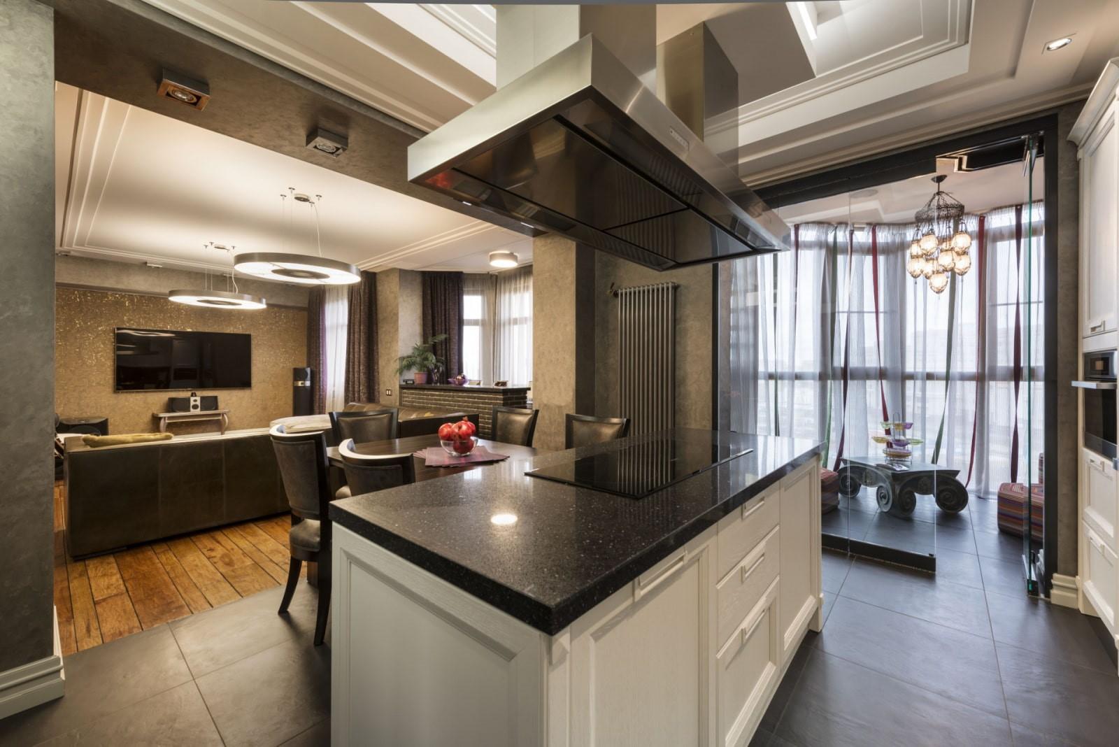 Оформление дизайна кухни-гостиной 16 кв м: варианты планировки и зонирование диваном