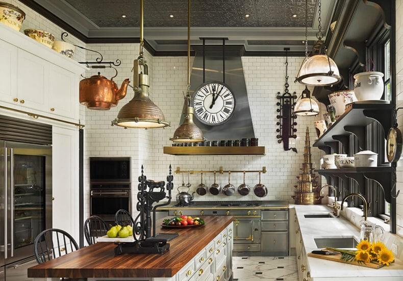 Дизайн кухни в английском стиле - британская классика в интерьере