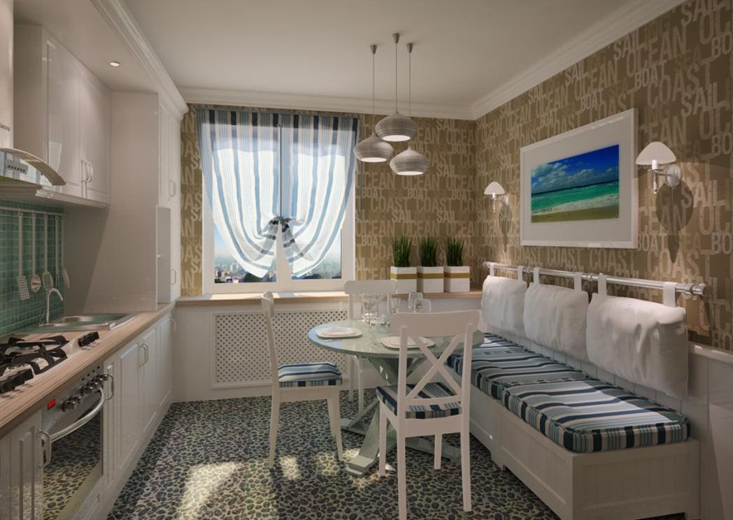 Дизайн кухни в морском стиле - выбор декора и оформление интерьера