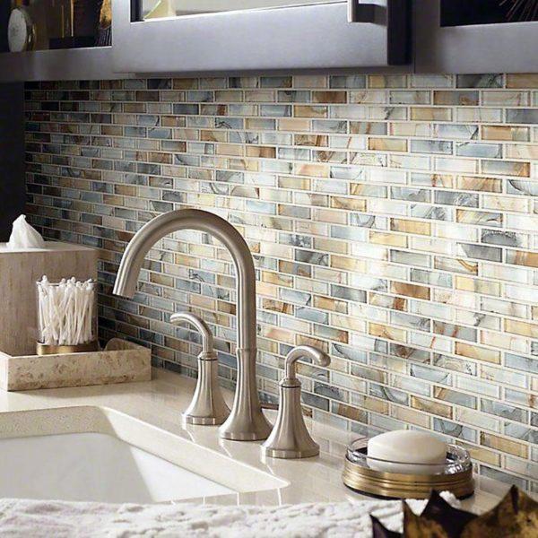 Кухонный фартук из мозаики - варианты оформления в интерьере