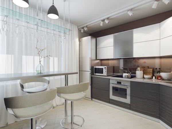 Оформление интерьера кухни 10 кв м - как обустроить и сделать ремонт