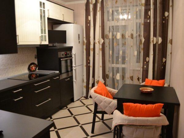 Дизайн кухни в коричневых тонах - от цвета стен до мебели