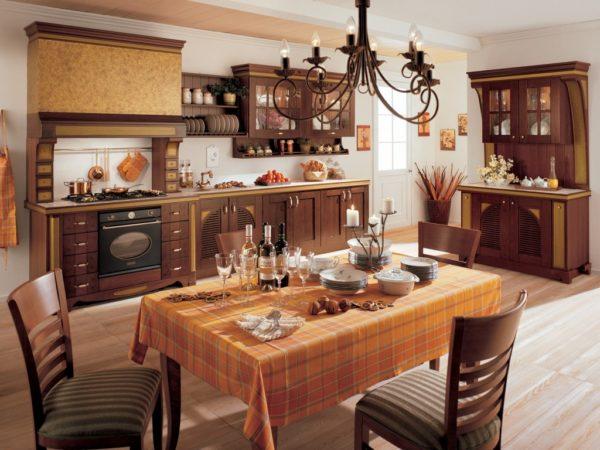 Дизайн кухни в стиле кантри - оформление в частном доме и в малогабаритной кухне
