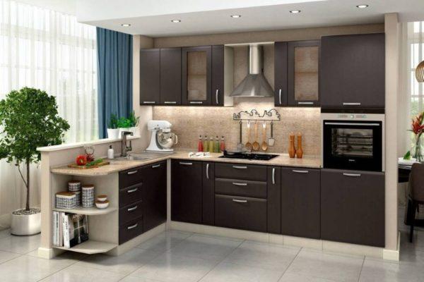 Кухонный гарнитур цвета венге - стили и сочетание цветов в интерьере
