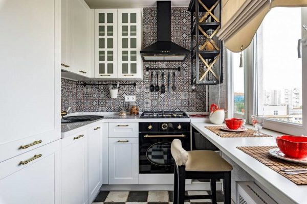 Варианты кухонных гарнитуров для маленькой кухни - современные идеи дизайна