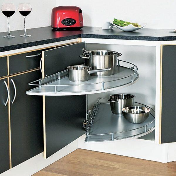 Дизайн малогабаритной угловой кухни - идеи размещения на маленькой площади