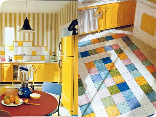 Выбор кафельной плитки для пола на кухне - по размеру и дизайну