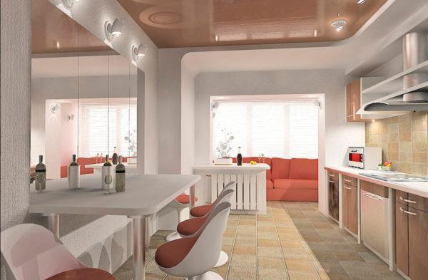 Как сделать кухню на балконе или лоджии в квартире - пошаговая переделка