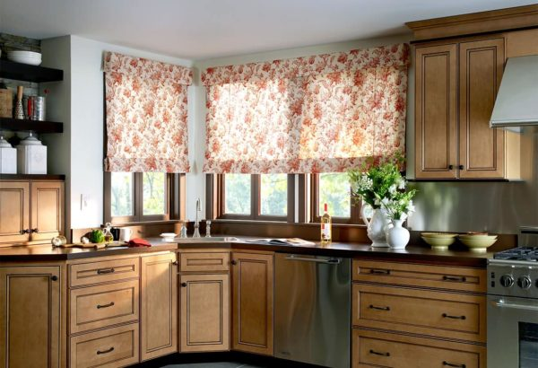 Шторы и занавески на кухню своими руками - короткие,с драпировкой и ассиметричные на одну сторону