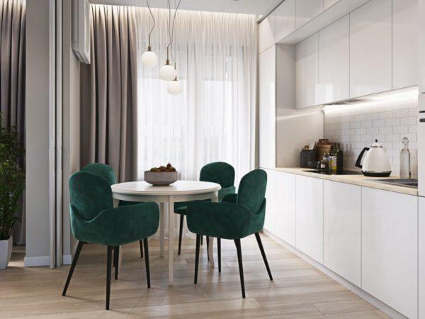 Какие шторы подойдут для белой кухни - обустройство интерьера в современном стиле