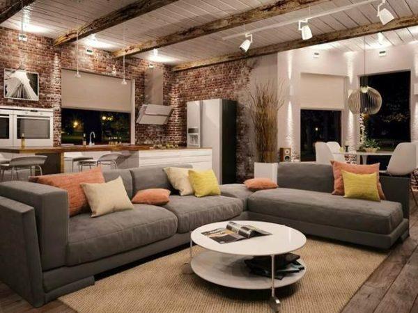 Дизайн кухни-гостиной в стиле лофт - брутальный дизайн в доме или квартире