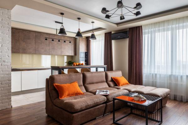 Как разделить кухню и гостиную на зоны - необычные решения