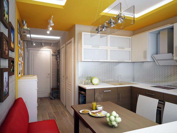 кухня студия в панельном доме