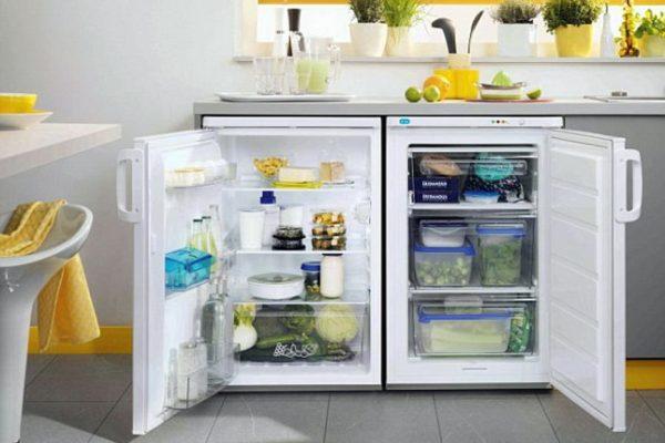 Холодильник встроенный под столешницу