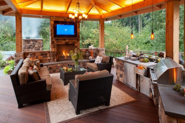 Дизайн кухни в дачном доме - идеи по оформлению интерьера