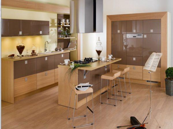 Остров на кухне с барной стойкой - технические и функциональные особенности