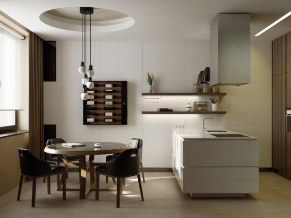 Дизайн кухни кофейного цвета - сочетание цветов в интерьере