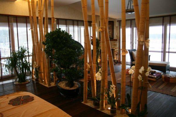 Бамбуковая перегородка в японском стиле