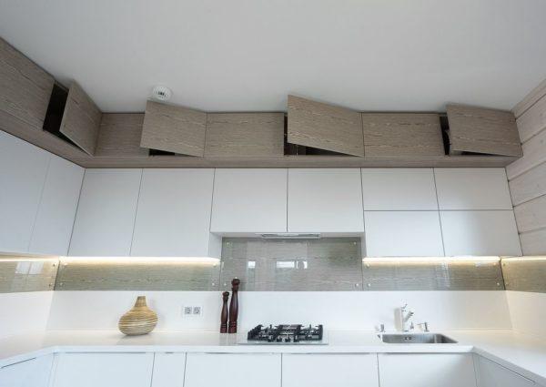 Антресоли в кухонном гарнитуре