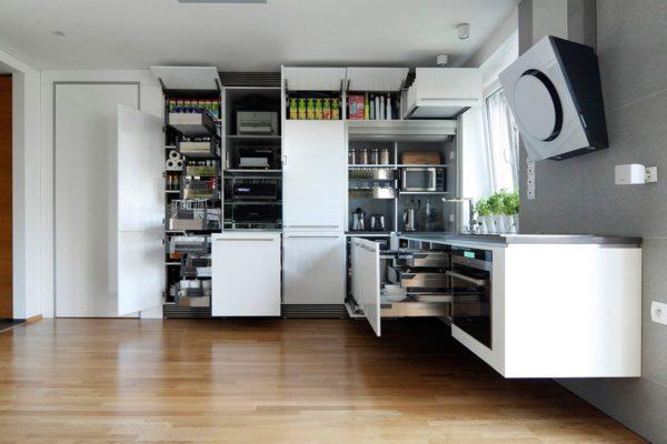Эргономичные ящики кухонного гарнитура