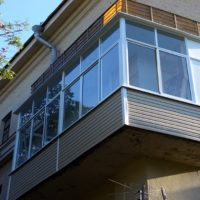 Так выглядит снаружи балкон