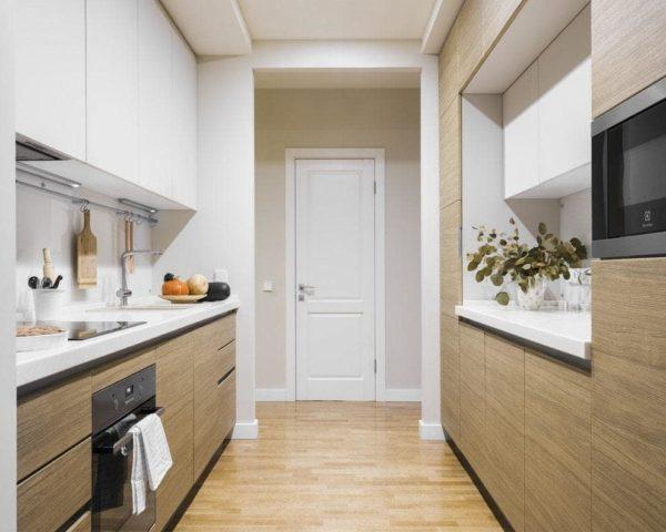 Дизайн кухни в коридоре - идеи объединения и планировки
