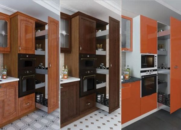 Выдвижной пенал на кухне